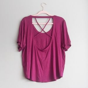 NWT Chaser Open Back Tee